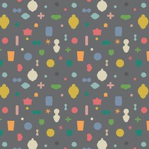 Tuttopop - multi pastel grey