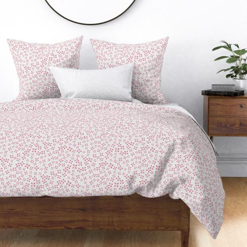 Home Decor Duvet Cover, White Bedding With Small Flowers