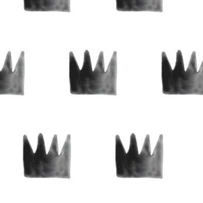 watercolor crowns - black on white