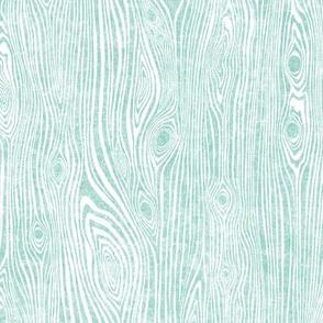 Woodgrain teal - driftwood teal mint tourquoise