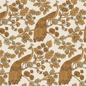 Peacock Garden {Gold Linen}