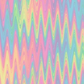 rainbow single zigzag - pastel