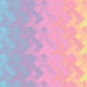 rainbow weave pastel