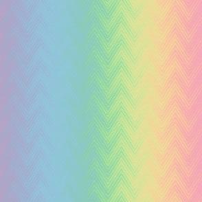 rainbow chevron stripe - pastel