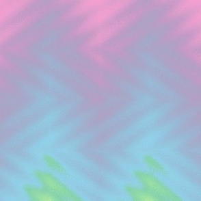 glass block rainbow chevron - pastel