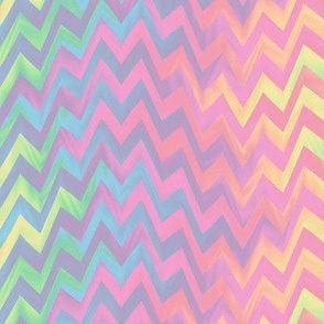 rippling rainbow zigzag - pastel