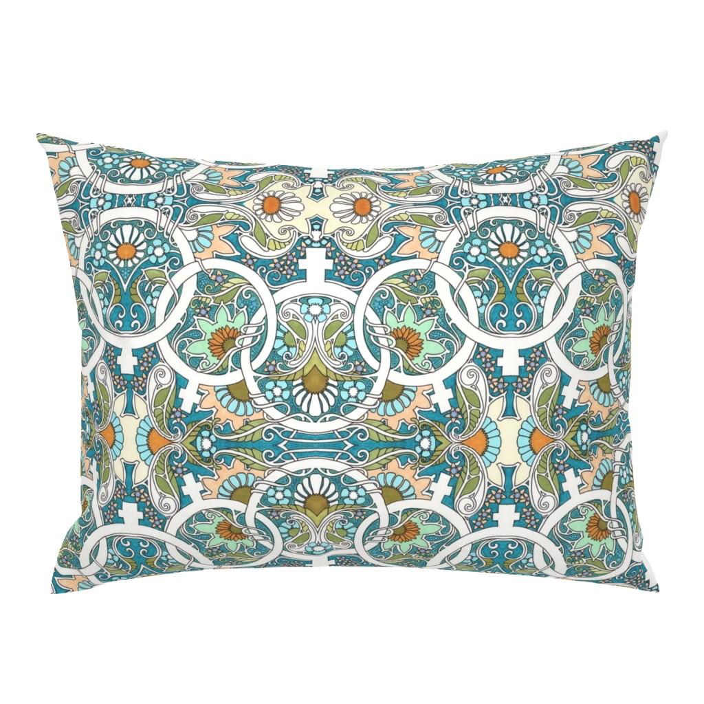 Campine Pillow Sham featuring Flower Power Womanhood by edsel2084
