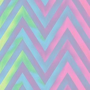 big rainbow zigzag - pastel