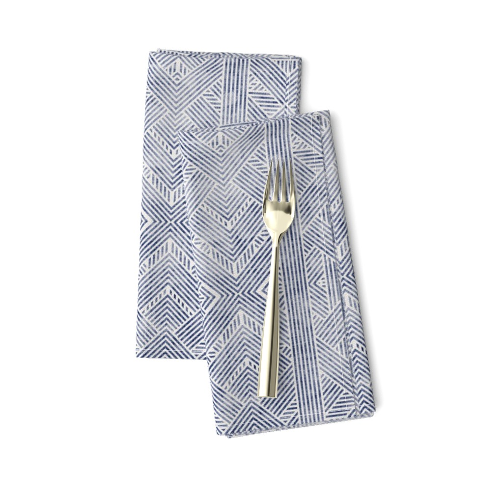Amarela Dinner Napkins featuring AMAI GEO DENIM by holli_zollinger