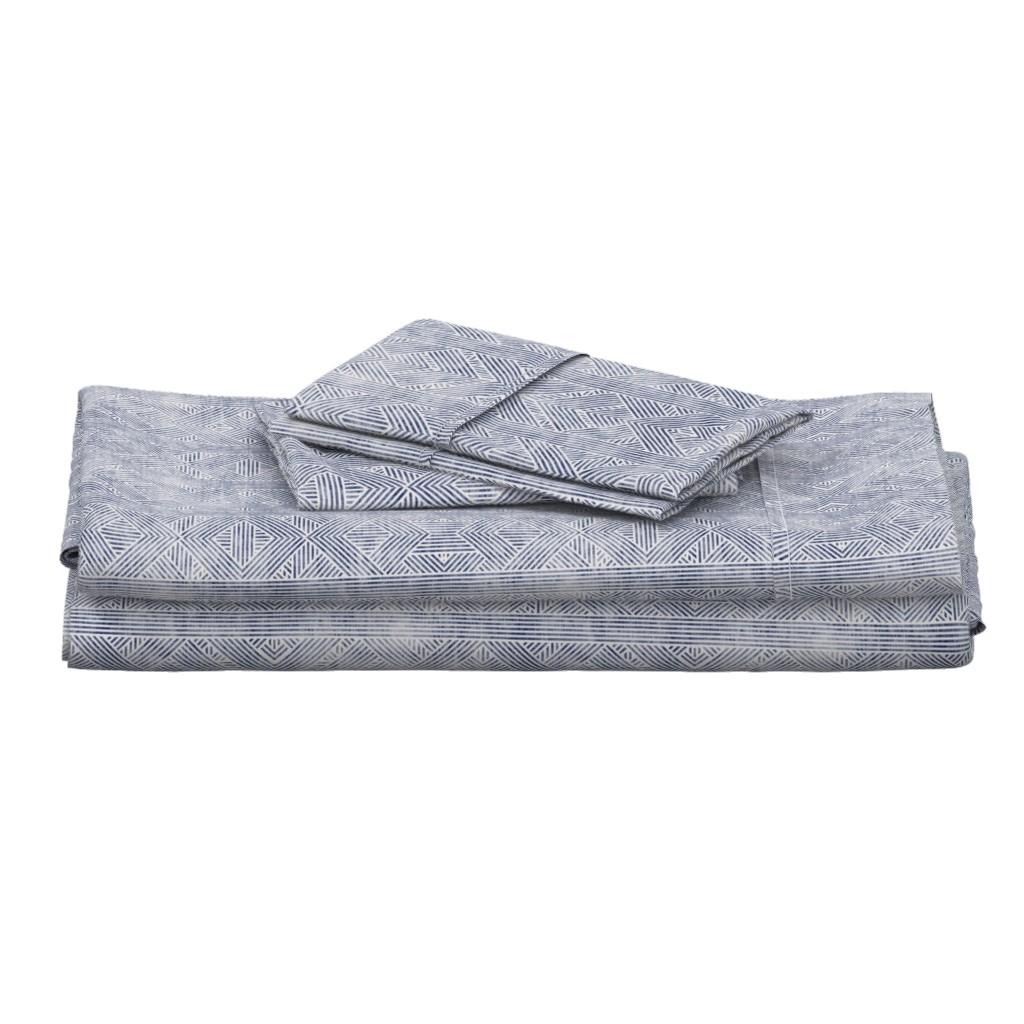 Langshan Full Bed Set featuring AMAI GEO DENIM by holli_zollinger