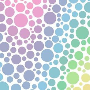 rainbow chevron dots - pastel