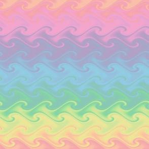 rainbow sea - pastel
