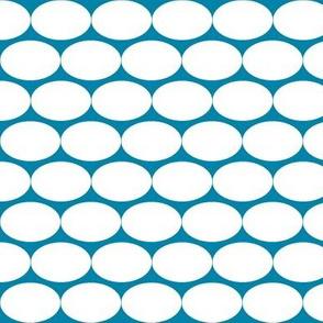 Blue and white Oblong Polka-dot