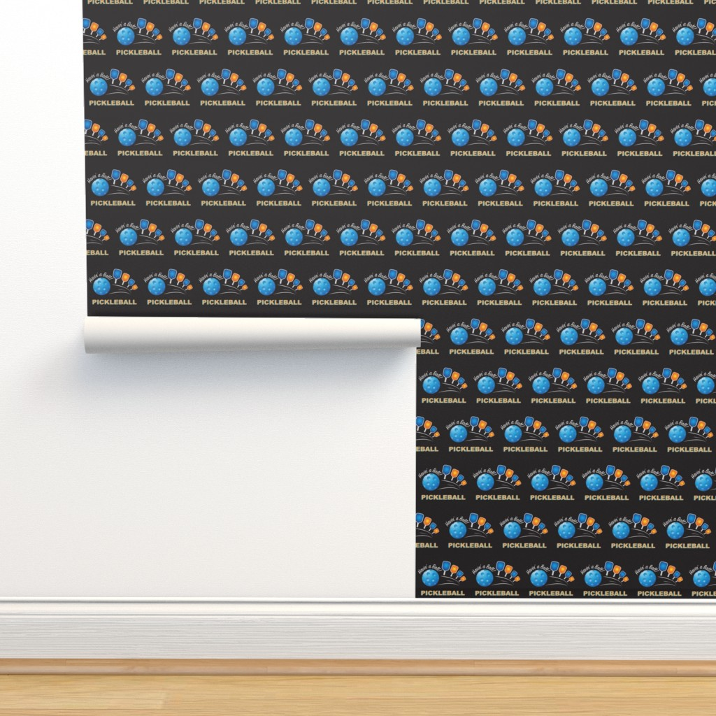 Isobar Durable Wallpaper featuring Havin' a Ball_Black by fabrique_dubois