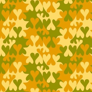 Camouflage Color Tessellating Hearts