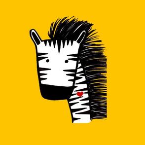 Zebra pillow size