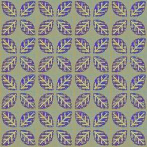 leaf quartet olive blue violet