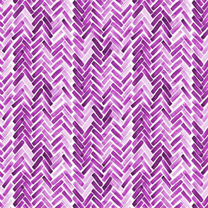 Purple watercolor herringbone