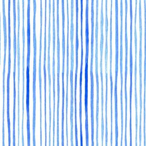 indigo watercolor stripes // lines