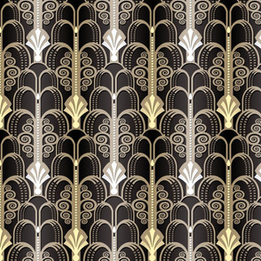 Art Deco Pattern black/gold