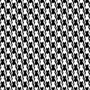 Custom Black and White Cats Tesselation