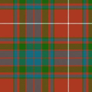 "Fraser gathering red tartan, 6"" ancient"