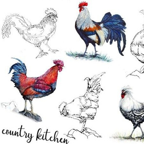 Roosters in the Kitchen