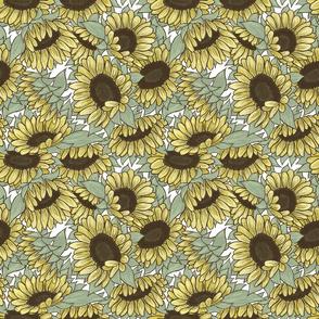 Sunflowers White