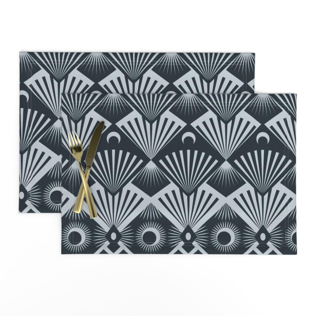 Lamona Cloth Placemats featuring  Moonrise by seesawboomerang