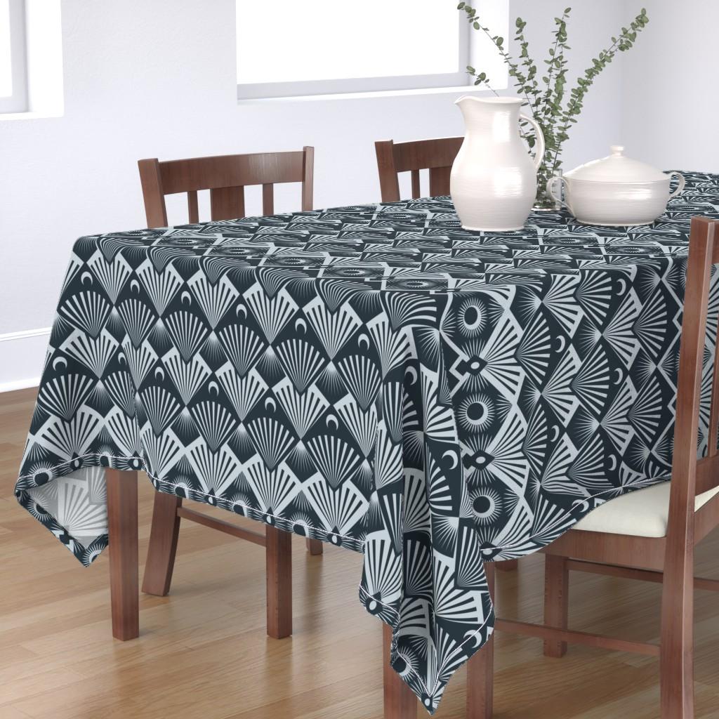 Bantam Rectangular Tablecloth featuring  Moonrise by seesawboomerang