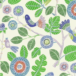 Summer birds (green and blue)