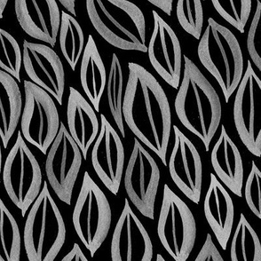 Hand drawn watercolor ikat- black and white