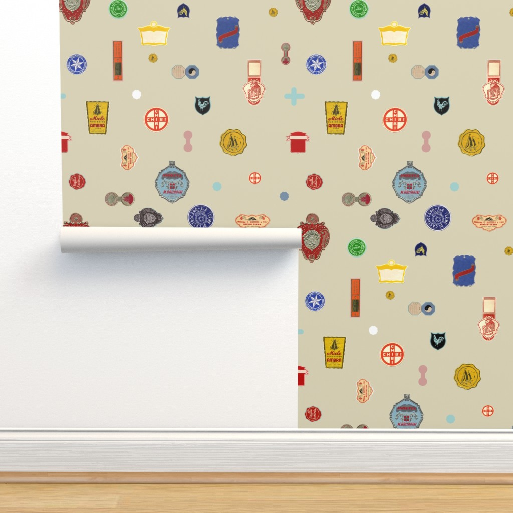 Isobar Durable Wallpaper featuring Tutto pronto - cream by cinneworthington
