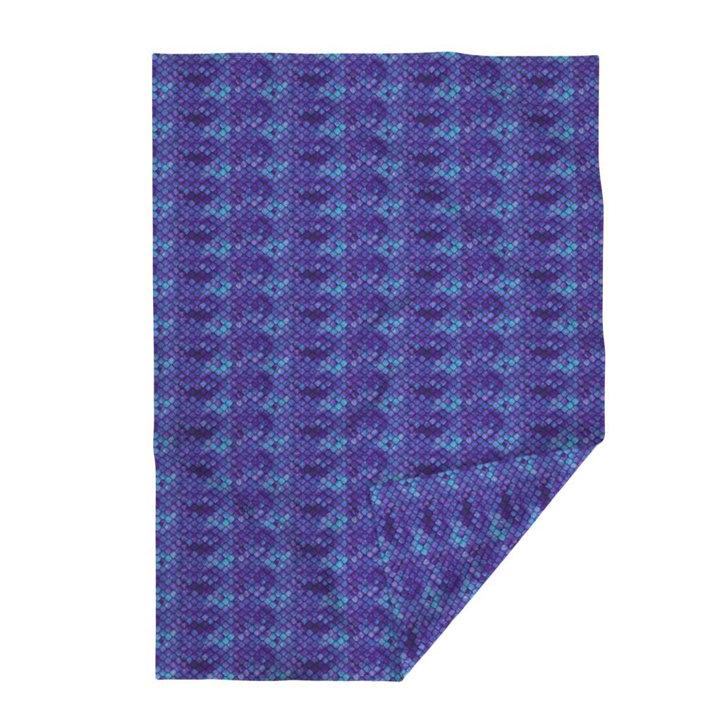 Lakenvelder Throw Blanket featuring dragon scales - purple by littlearrowdesign