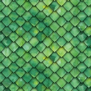 dragon scales - green