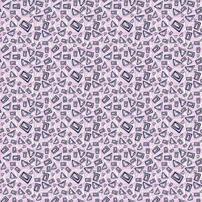 Mod Angles Navy N Orchid Small