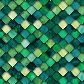 dragon scales - green multi