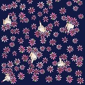 Middle Finger Floral