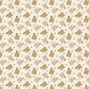 Micro tiny Wheaten Terriers - tan