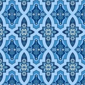 Moroccan Tile Floral  // Geometric  // Kilim Tile