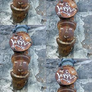 Dolled Up Pipes, Paris Graffiti