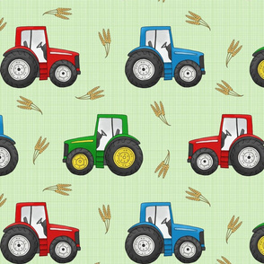 Large Tractors and Wheat