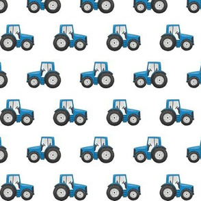 Blue Tractor - Basic Repeat 1 inch tall