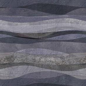 blue-grey rolling waves hills