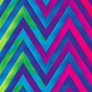 big rainbow zigzag