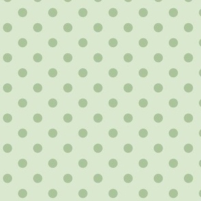 Dotty: Moss Green Polka Dot