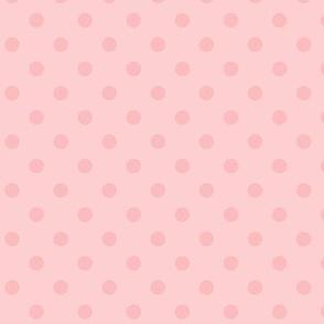 Dotty: Millennial Pink 5 Polka Dots