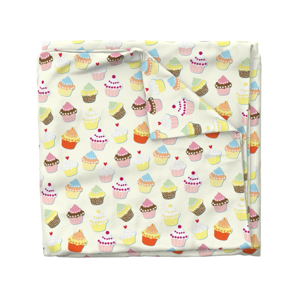 Wyandotte Duvet Cover featuring Cream Cupcakes by paper_and_frill