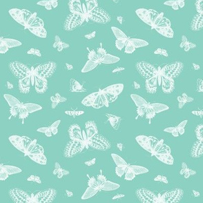 Mint Vintage Butterflies