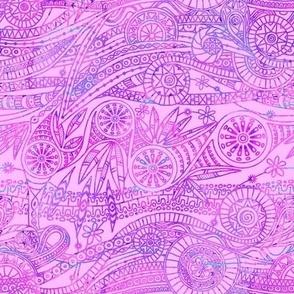 Batik Doodle in Pink